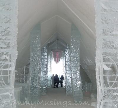 navette québec a hotel de glace valcartier