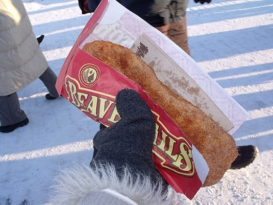 quebec city winter carnival food - Beaver Tail
