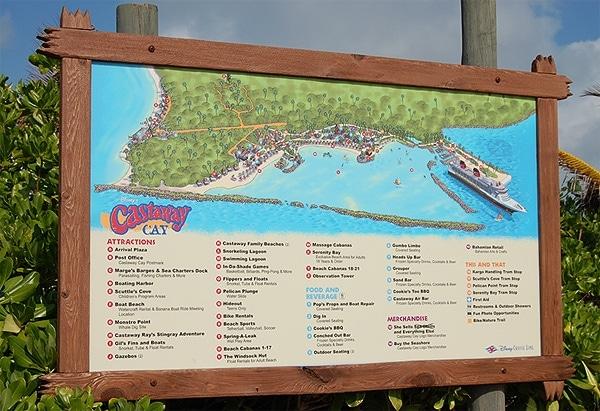 castaway cay map