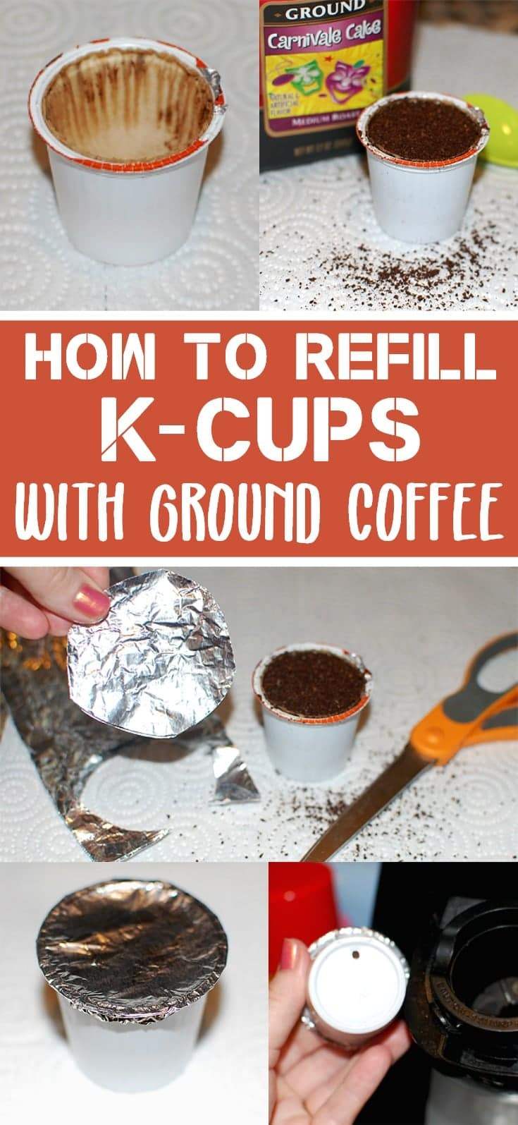 how to refill k-cups with ground coffee