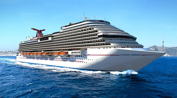Carnival Breeze Will Call The Port Of Miami Home In 2012