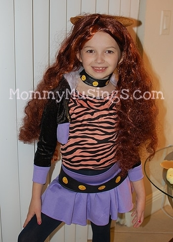 We ordered the Clawdeen Wolf Monster High Costume ...  sc 1 st  Mommy Musings & Monster High Clawdeen Wolf Costume Review