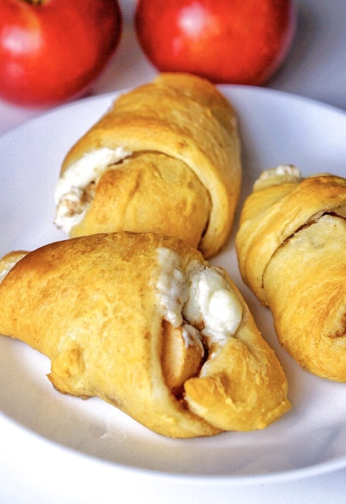 apple dumplings with cream cheese