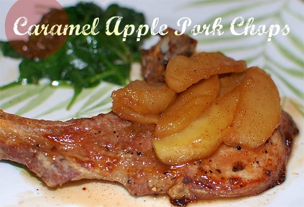 Caramel Apple Pork Chops {Recipe}