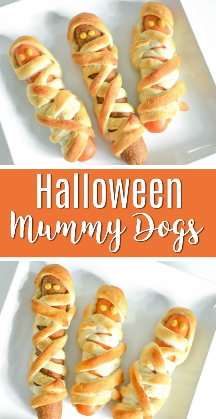 halloween mummy hot dogs crescent dogs