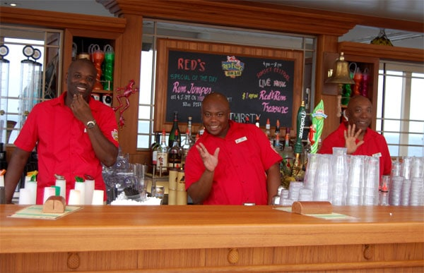 carnival liberty red frog rum bar