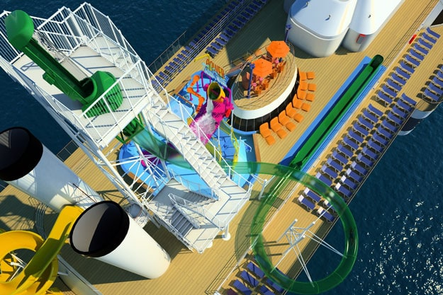 Carnival Spirit Waterslide The Carnival Spirit