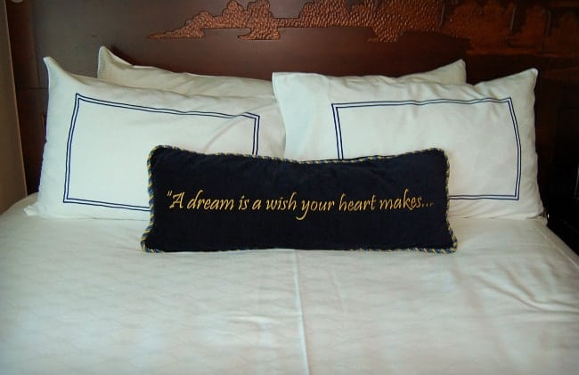 disneyland hotel pillow