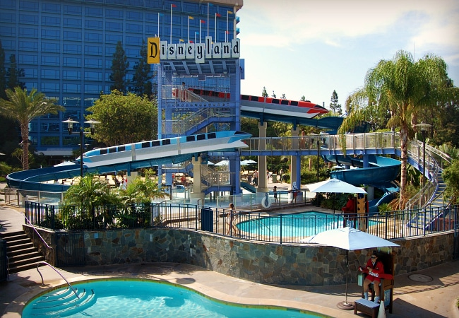disneyland hotel water slide