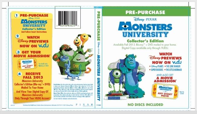 Monsters University 2013 Dvd