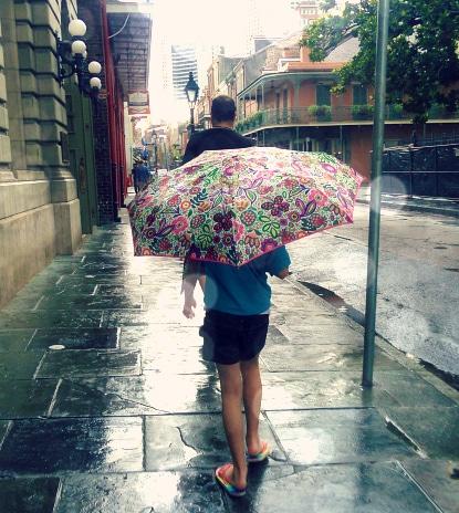 raining in nola
