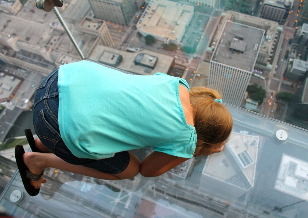 skydeck looking down