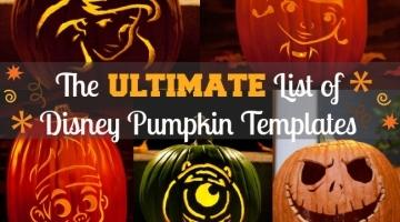 disney pumpkin templates