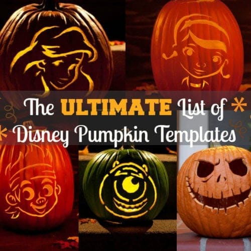 free disney pumpkin templates