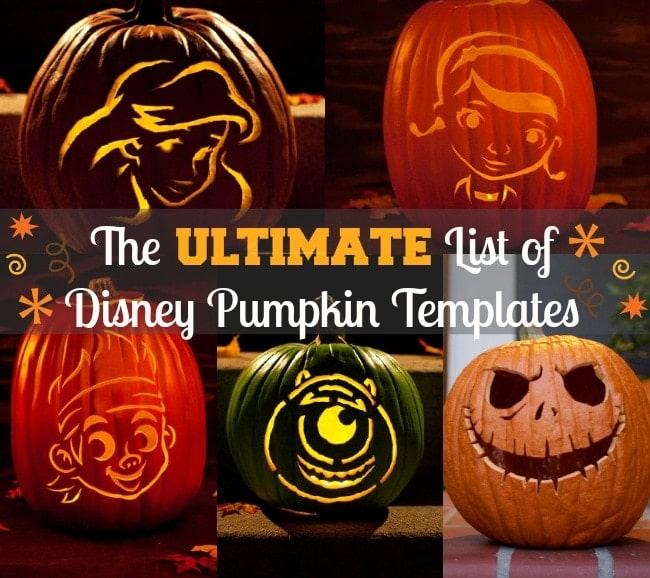 Disney pumpkin stencils free carving