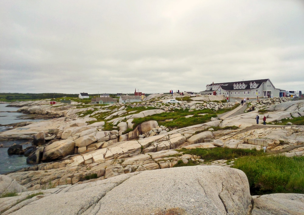 rocks at Peggy's cove lighthouse