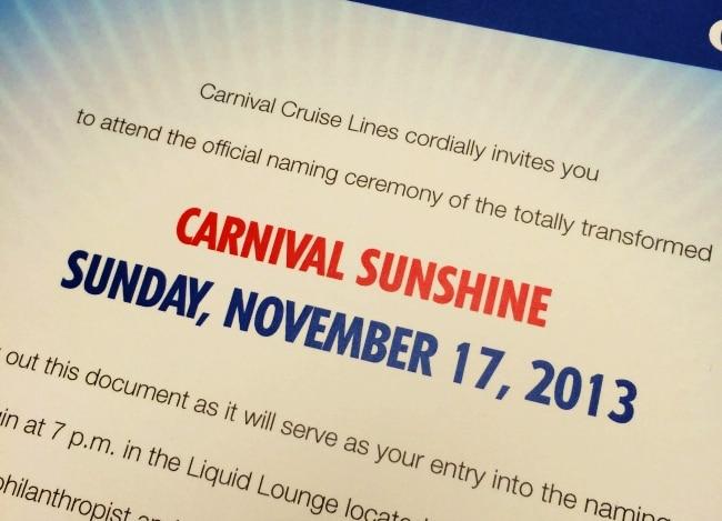 carnival naming invite