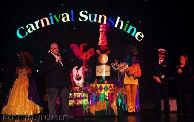 carnival sunshine naming ceremony