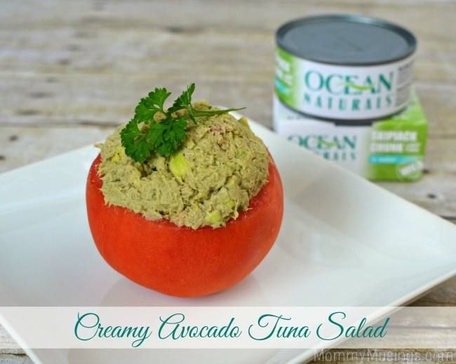Creamy Avocado Tuna Salad {Recipe} #OceanNaturals