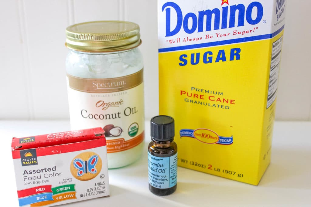 peppermint sugar scrub recipe ingredients