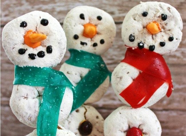 Snowman Donut Pops Recipe