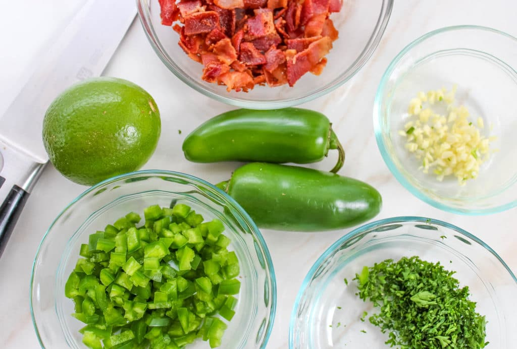 Jalapeno Bacon Cheese Ball ingredients