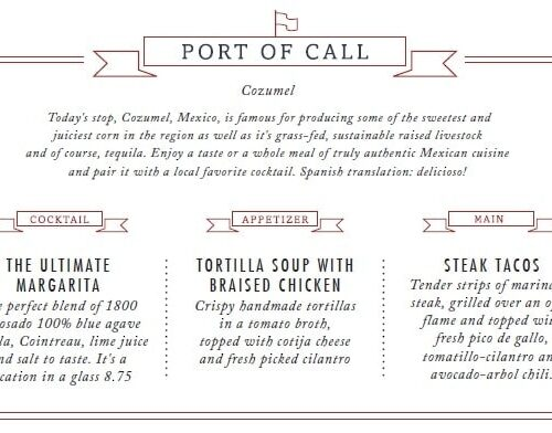 carnival port of call menu