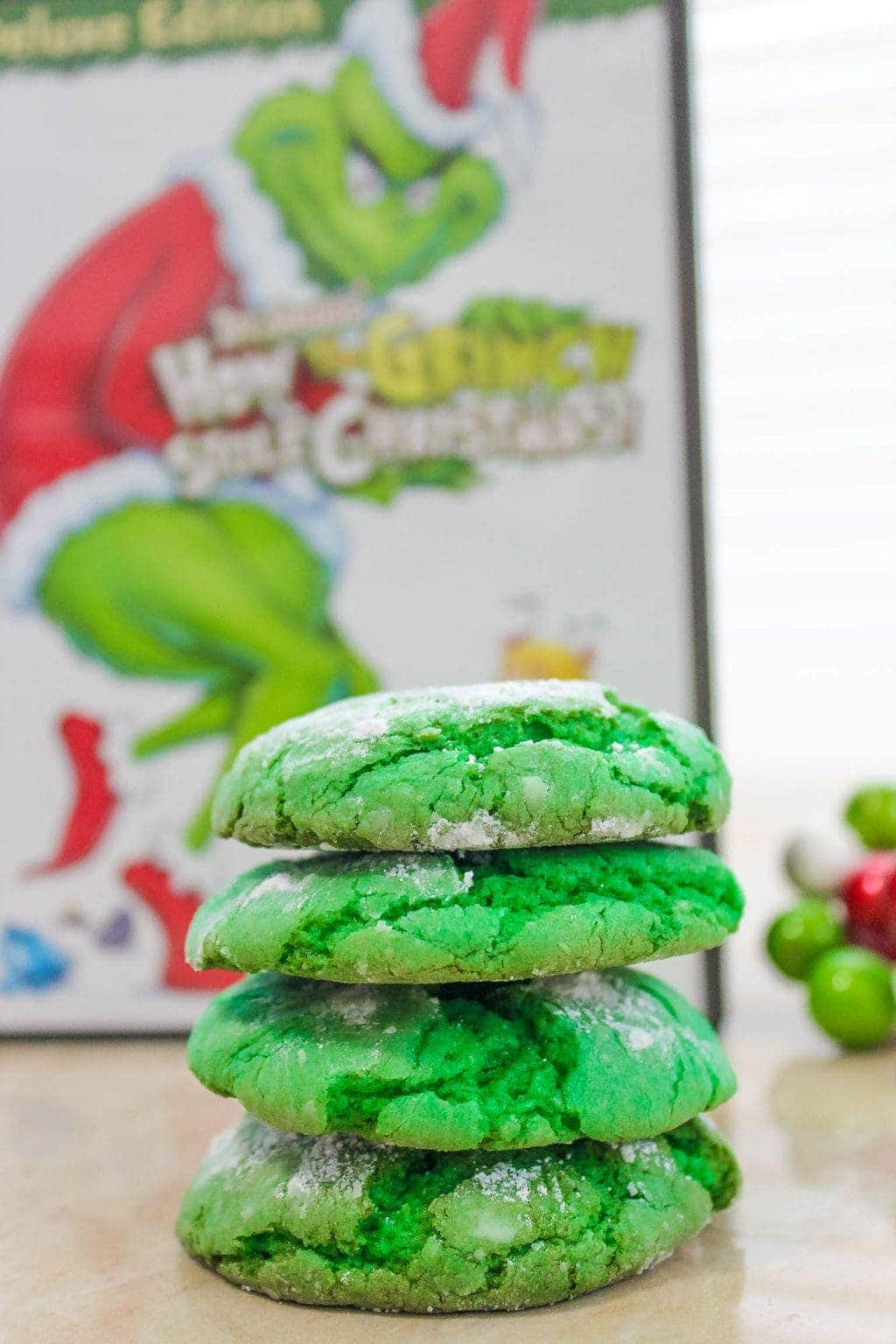 How The Grinch Stole Christmas Cookies Recipe Grinch Crinkle Cookies