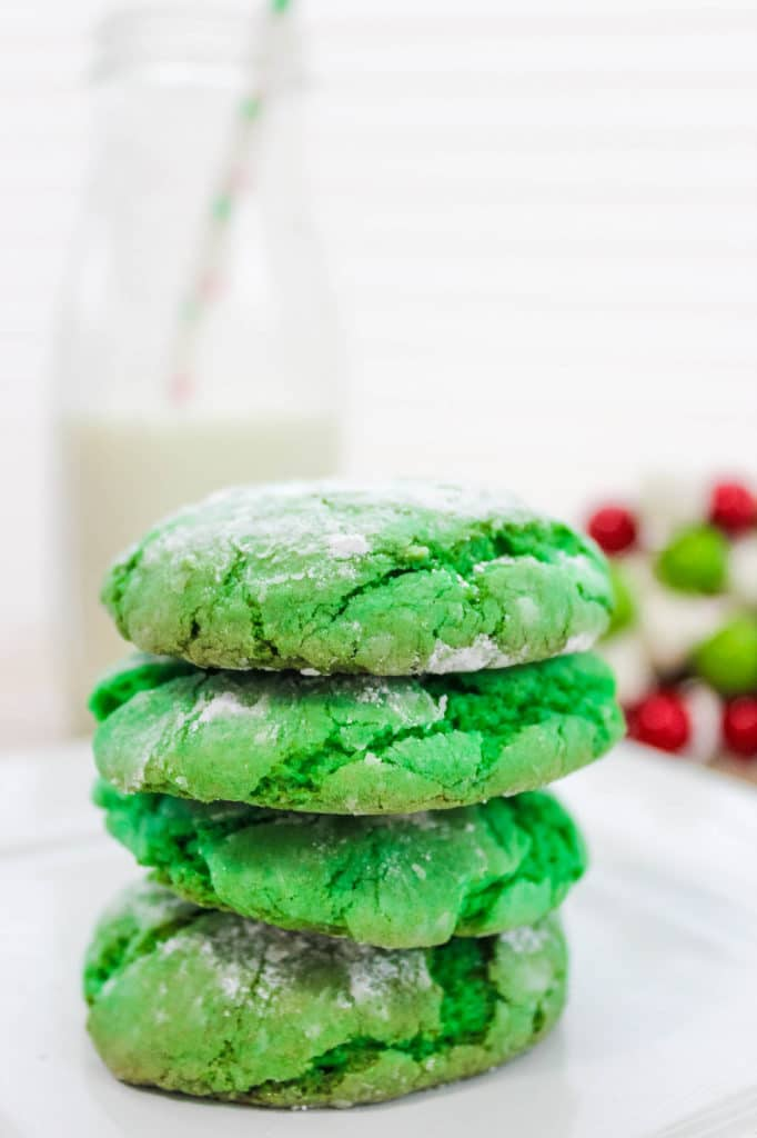 How the Grinch Stole Christmas Crinkle Cookies Recipe