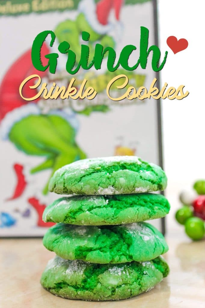 How the Grinch Stole Christmas Cookies Recipe | Grinch Crinkle Cookies