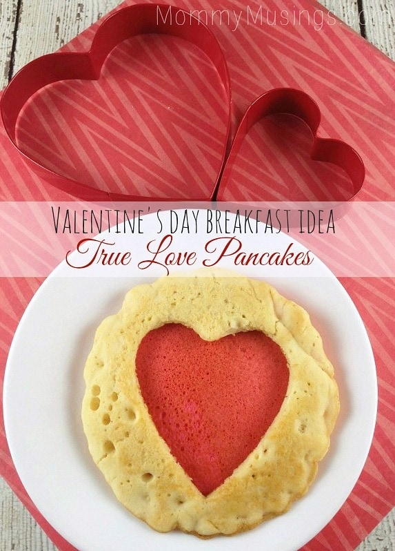 heart pancakes for Valentine's Day