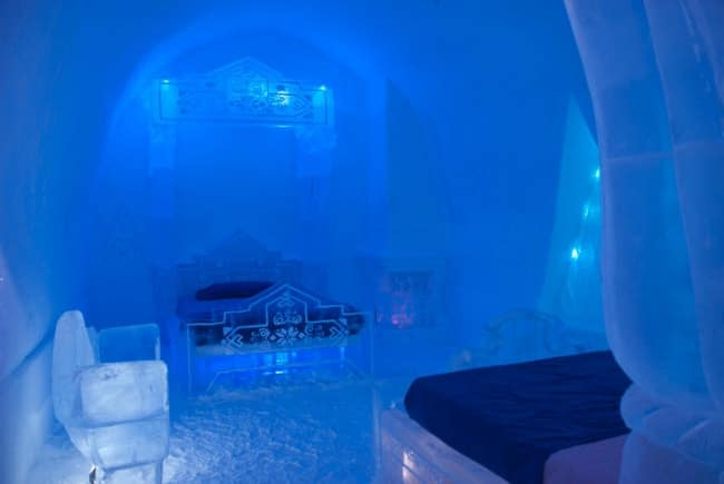 frozen suites ice hotel quebec
