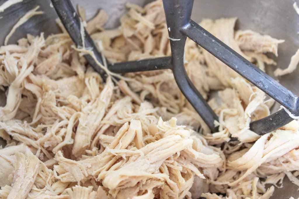 shredded chicken for buffalo chicken dip