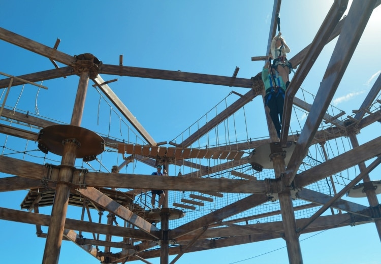 norwegian getaway ropes course