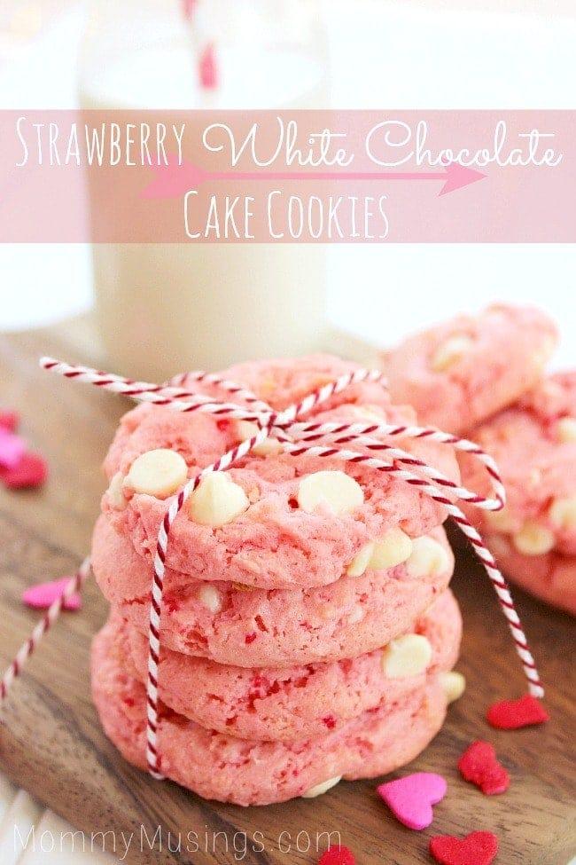 strawberry cake cookies recipe