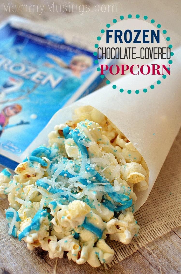 Frozen Chocolate Covered Popcorn Treat Recipe