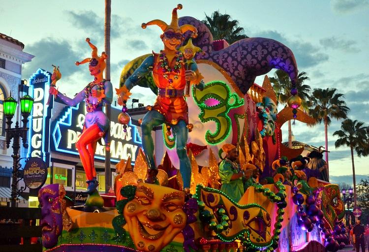 universal mardi gras parade