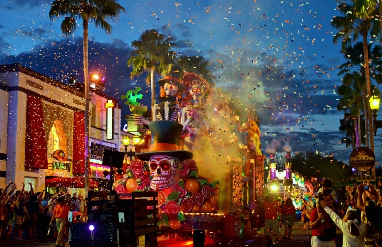 universal day of the dead float