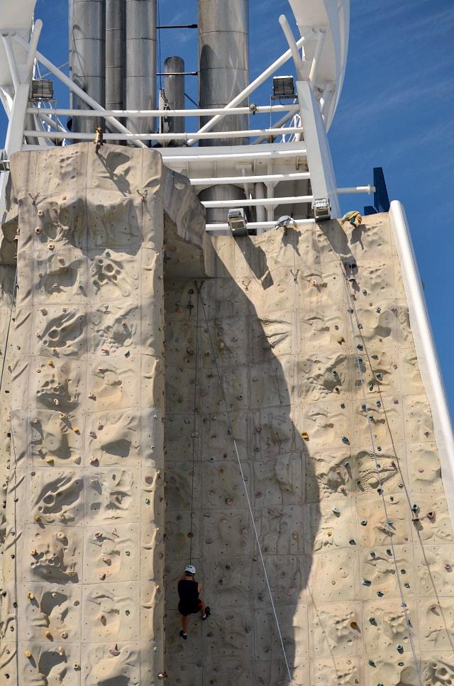 rock climbing liberty of the seas