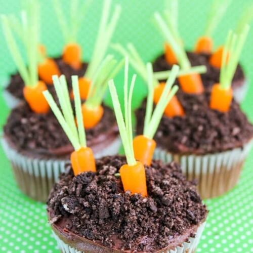 spring carrot garden cupcakes recipe