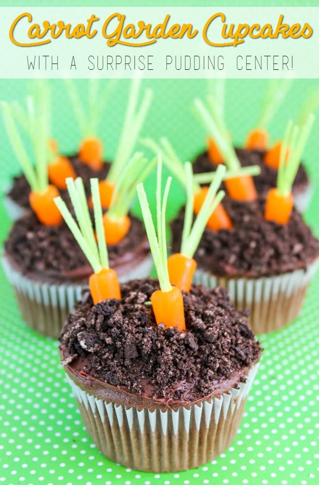 easter carrot garden cupcakes recipe