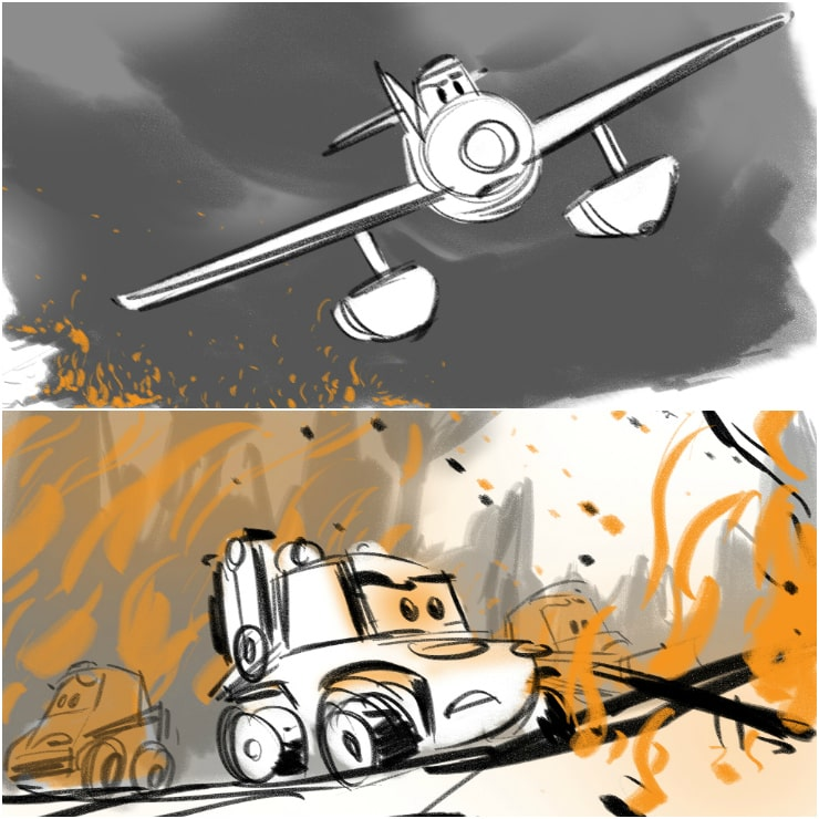 planes fire & rescue drawings