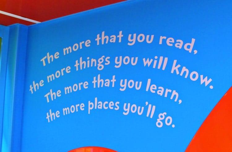 Dr. Seuss Bookville quote