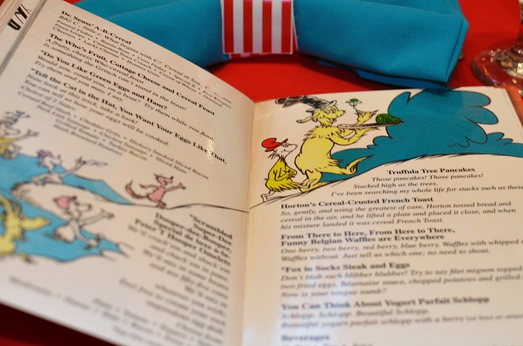 seuss at sea menu