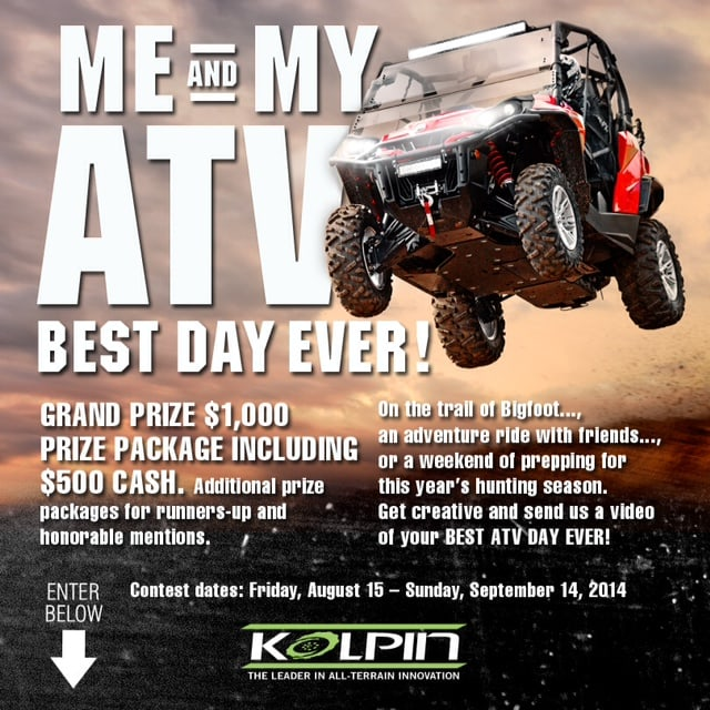 Kolpin Power Sports Best Day Ever Video Contest