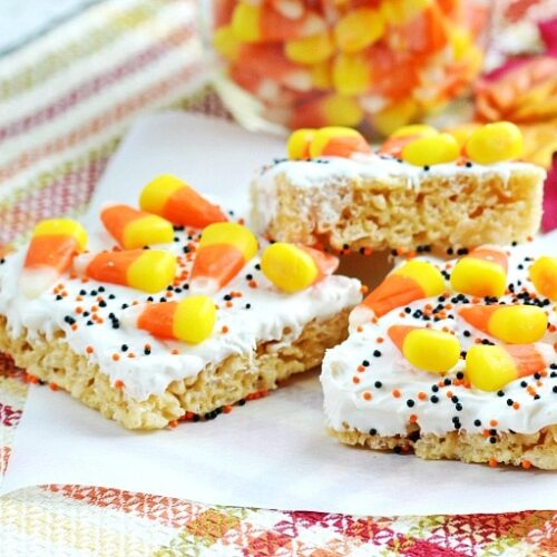 candy corn rice krispie treats recipe