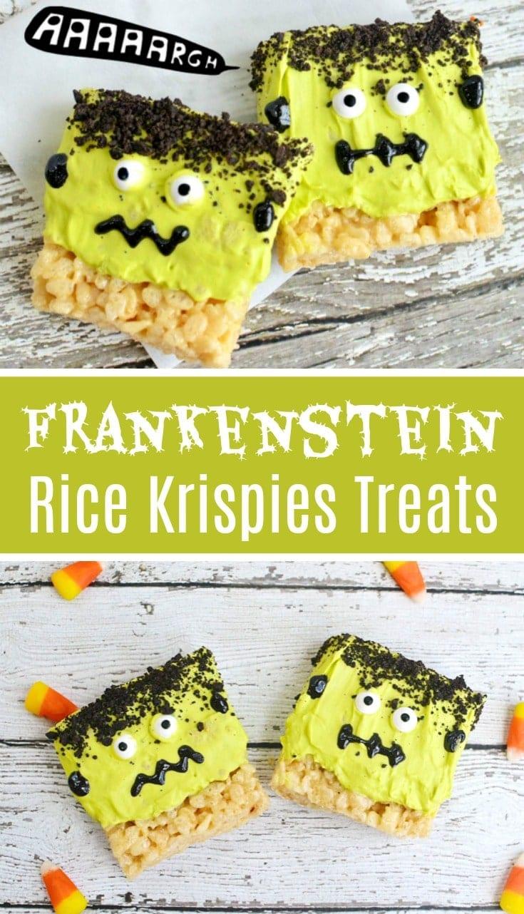 Frankenstein Rice Krispies Treats Halloween Recipe