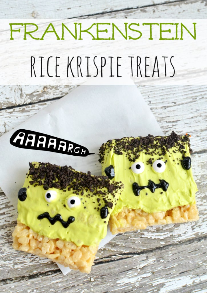 frankenstein rice krispies treats recipe