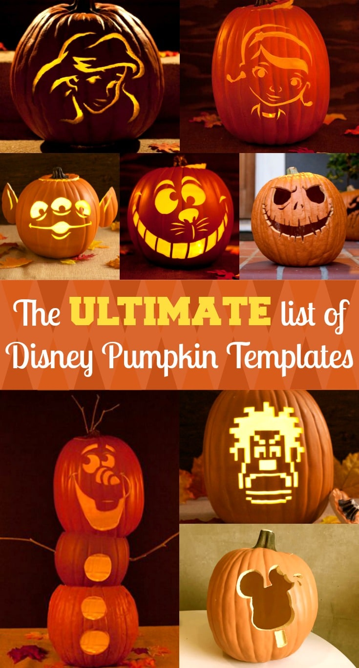 Disney Pumpkin Stencils Free Disney Pumpkin Carving Templates