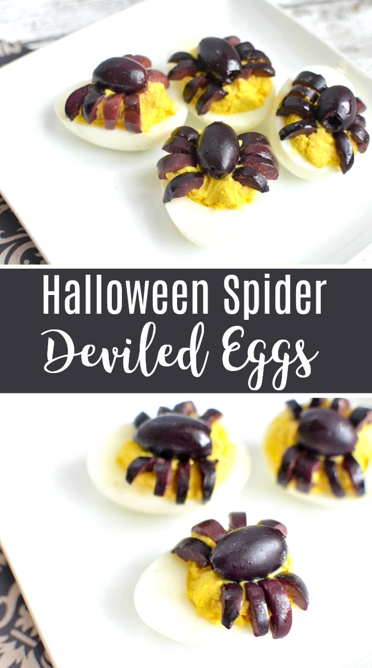Halloween Spider Deviled Eggs Recipe